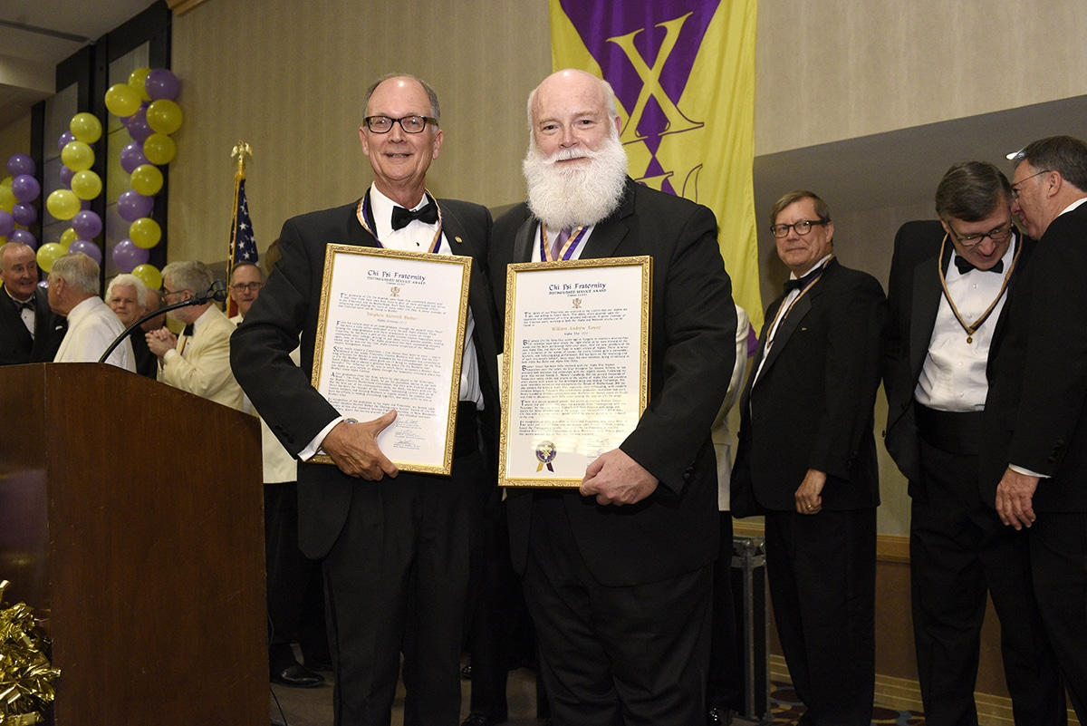 2019 DSA recipients: Steve Barber, Γ '77, and Bill Royce, P '78.