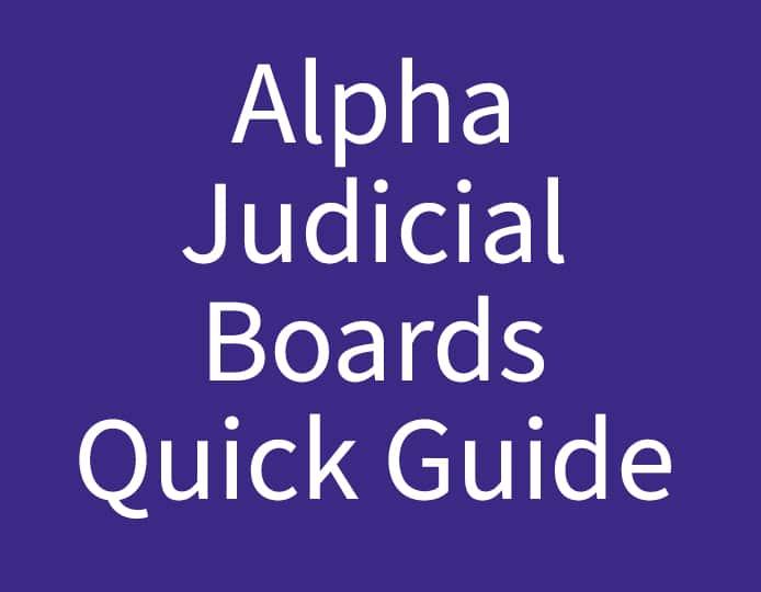 Alpha Judicial Boards Quick Guide Purple