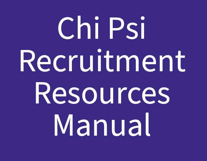Chi Psi Recruitment Resources Manual Purple
