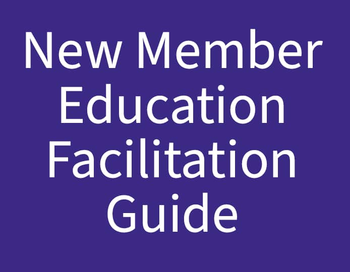 New Member Education Facilitation Guide Purple