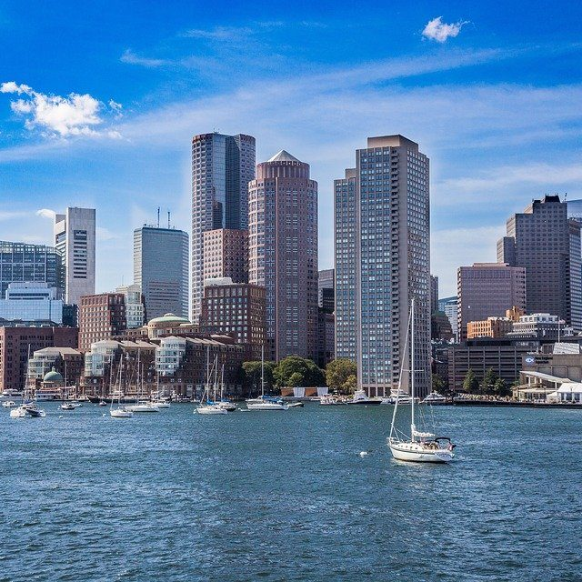 Boston Blue News Summer Coast New England Skyline